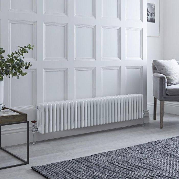 Milano Windsor - White Traditional Horizontal Column Radiator - 300mm x 1485mm (Four Column)
