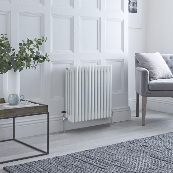 Milano Windsor - Traditional White 4 Column Radiator 600mm x 585mm (Horizontal)