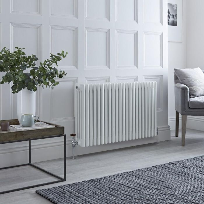 Milano Windsor - White Traditional Horizontal Column Radiator - 600mm x 1010mm (Four Column)