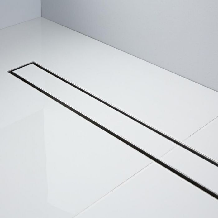 Milano 800mm Tile Insert Linear Stainless Steel Shower Drain