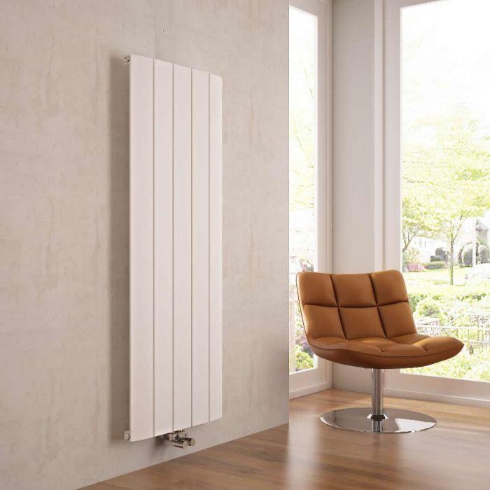 Milano Skye - Aluminium White Vertical Designer Radiator 1600mm x 470mm