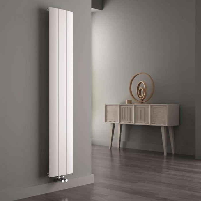 Milano Skye - Aluminium White Vertical Designer Radiator 1800mm x 280mm