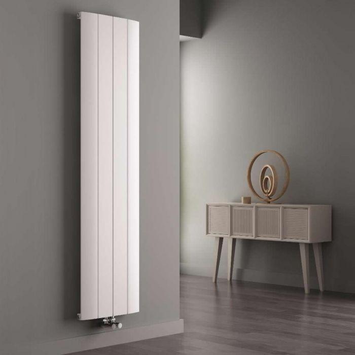 Milano Skye - White Vertical Designer Radiator - 1800mm x 375mm