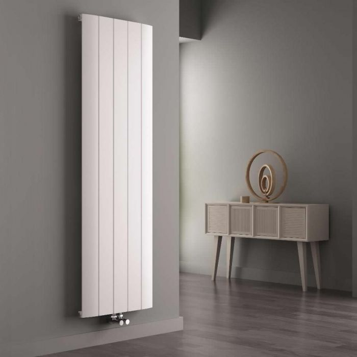 Milano Skye - White Vertical Designer Radiator - 1800mm x 470mm