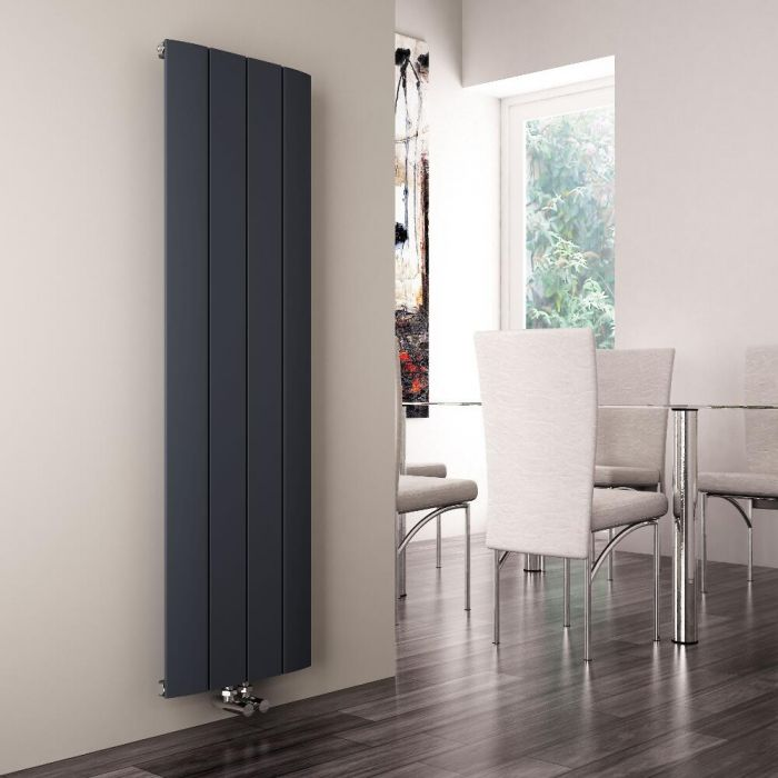 Milano Skye - Anthracite Vertical Designer Radiator - 1600mm x 375mm