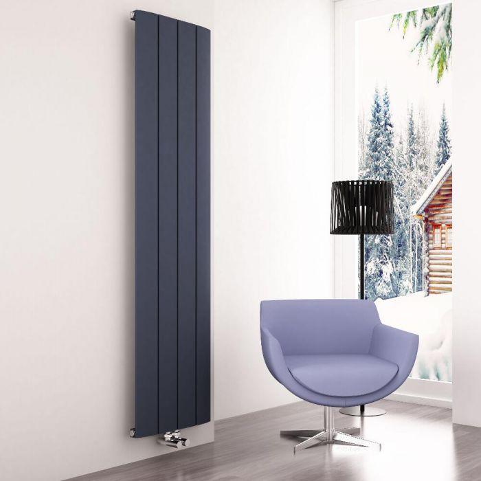 Milano Skye - Anthracite Vertical Designer Radiator - 1800mm x 375mm