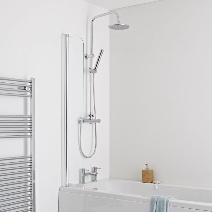 Milano Portland - Splash Shower Guard Bath Screen - Easy Clean Glass