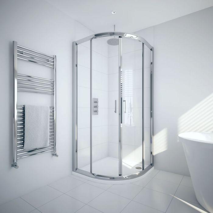 Milano Portland 800mm Quadrant Shower Enclosure 6mm