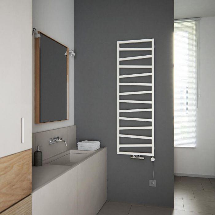 Terma ZigZag - White Vertical Heated Towel Rail - 1545mm x 500mm