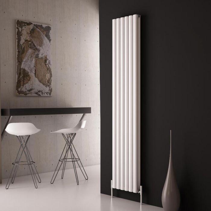 Milano Aruba Ayre - Aluminium White Vertical Designer Radiator - 1800 x 350mm (Double Panel)