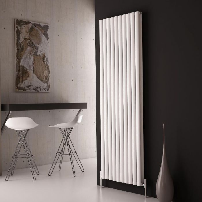 Milano Aruba Ayre - Aluminium White Vertical Designer Radiator - 1800 x 590mm (Double Panel)