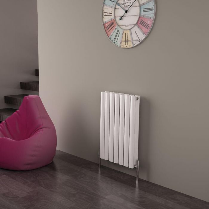 Milano Aruba Ayre - Aluminium White Horizontal Double Panel Designer Radiator 600 x 410