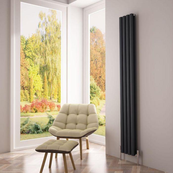 Milano Aruba Ayre - Aluminium Anthracite Vertical Designer Radiator - 1800 x 230mm (Double Panel)