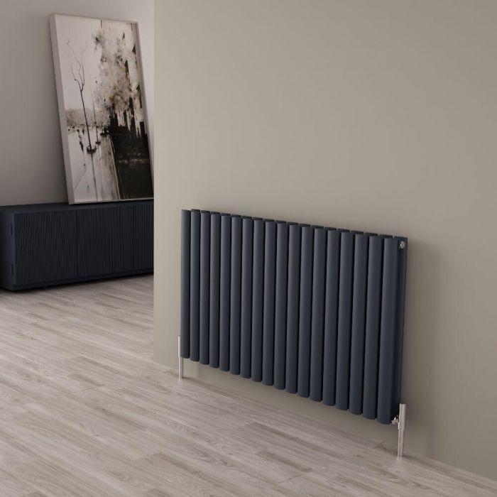 Milano Aruba Ayre - Anthracite Horizontal Designer Radiator - 600mm x 1070mm (Double Panel)