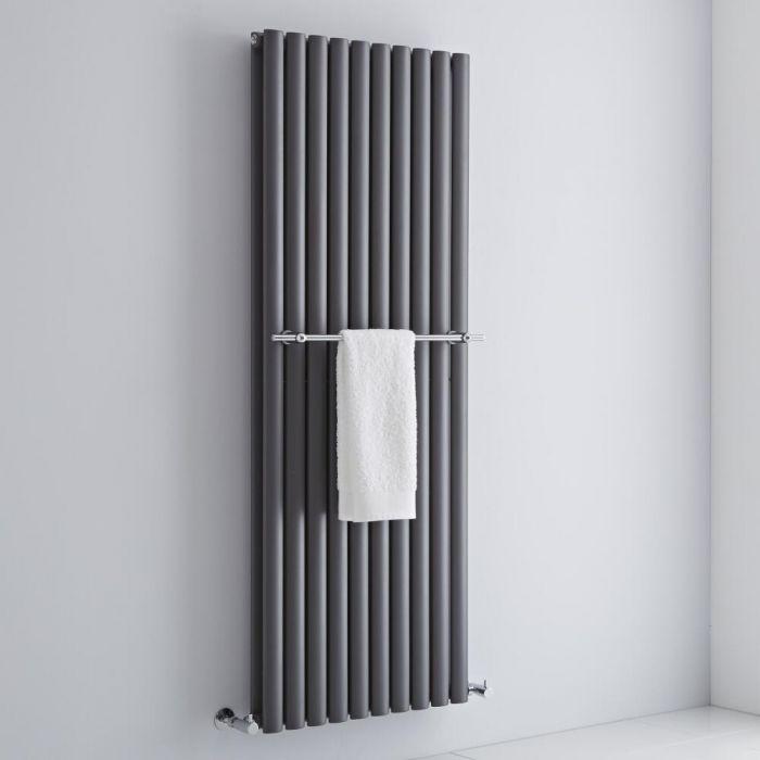 Milano Chrome Towel Rail for Aruba and Alpha Vertical Designer Radiator 590mm
