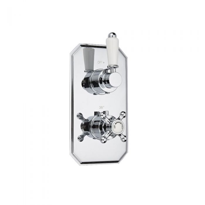 Milano Victoria Concealed Thermostatic Twin Shower Valve 1 Outlet