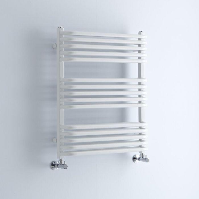 Milano Bow - White D Bar Heated Towel Rail 736mm x 600mm
