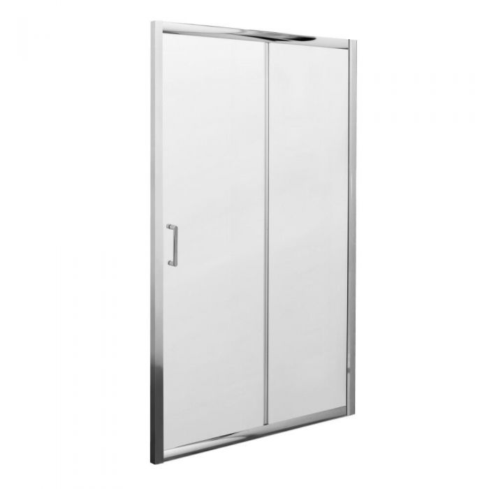 Milano Portland Complete Sliding Shower Door Enclosure With Tray, Waste & End Panel 1100 x 900mm