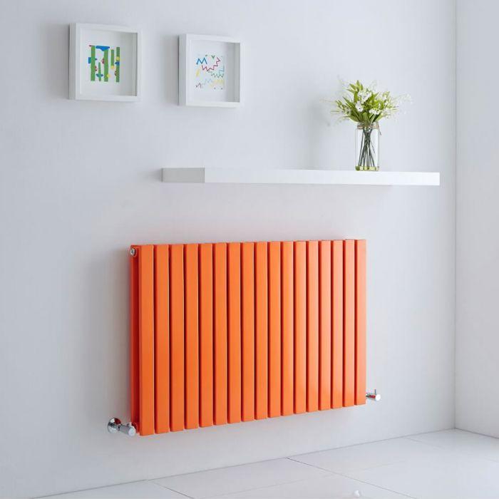 Milano Capri - Light Orange Flat Panel Horizontal Designer Radiator - 635mm x 1000mm (Double Panel)
