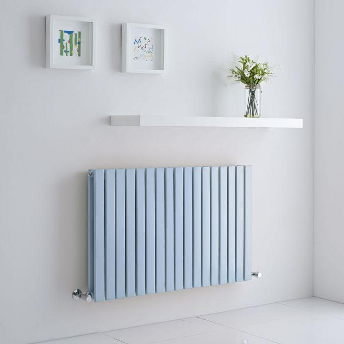 Milano Capri - Baby Blue Flat Panel Horizontal Designer Radiator - 635mm x 1000mm (Double Panel)