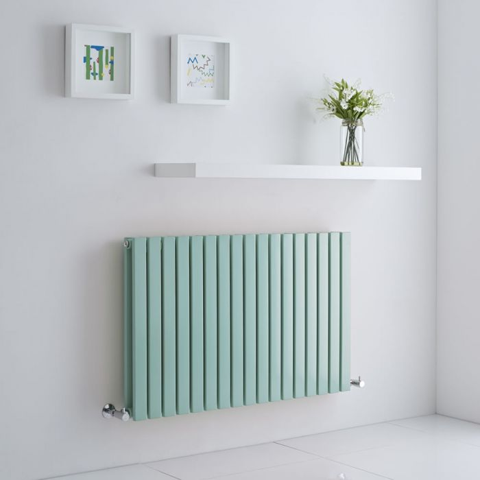 Milano Capri - Light Mint Green Flat Panel Horizontal Designer Radiator - 635mm x 1000mm (Double Panel)