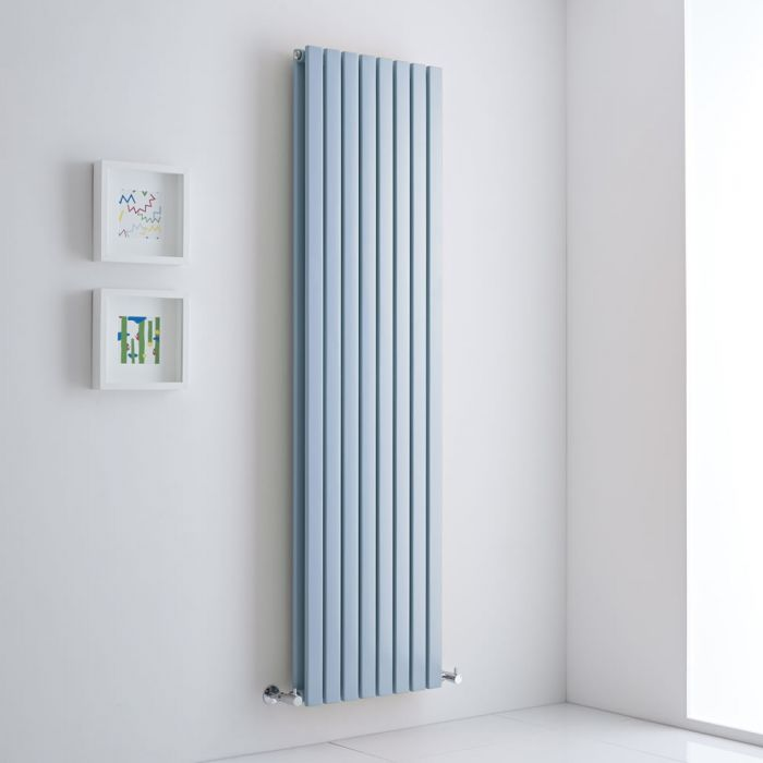 Milano Capri - Baby Blue Flat Panel Vertical Designer Radiator - 1780mm x 472mm (Double Panel)