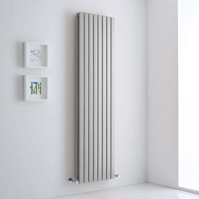 Milano Capri - Light Grey Vertical Designer Radiator - 1780mm x 472mm (Double Panel)