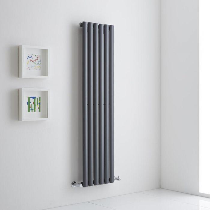 Milano Aruba Aiko - Anthracite Vertical Designer Radiator - 1400mm x 354mm