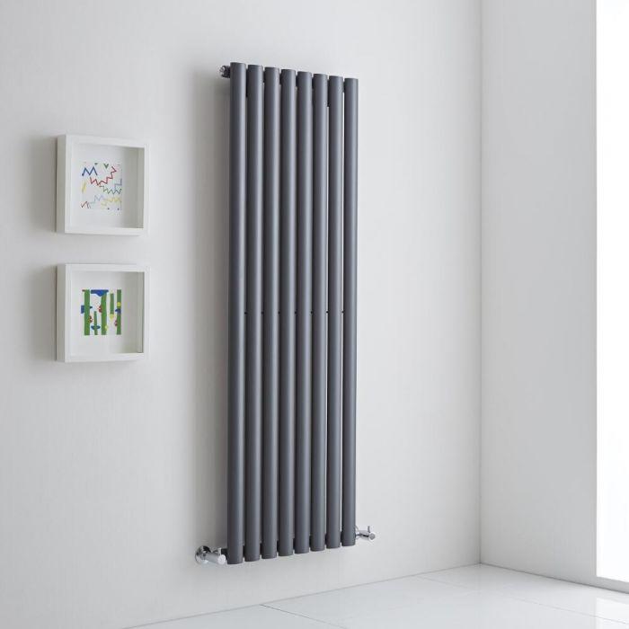 Milano Aruba Aiko - Anthracite Vertical Designer Radiator - 1400mm x 472mm