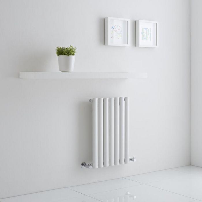Milano Aruba Aiko - White Horizontal Designer Radiator 600mm x 415mm (Single)