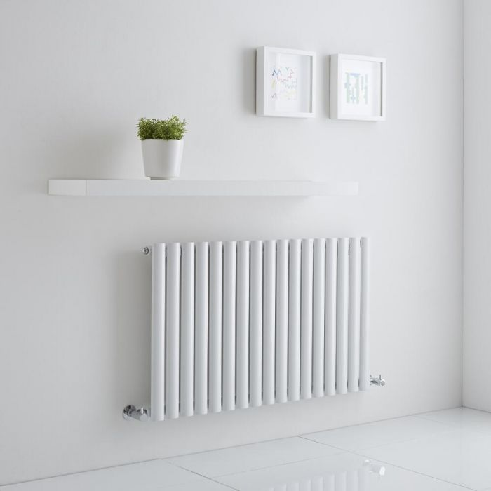 Milano Aruba Aiko - White Horizontal Designer Radiator 600mm x 1000mm (Single)