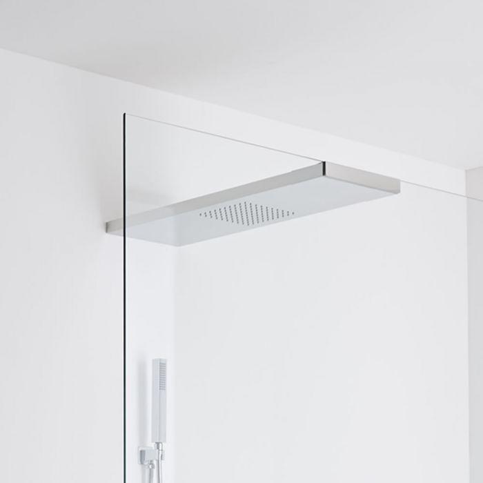 Milano Vaso Glass-grabbing shower head 800 x 250mm - Chrome