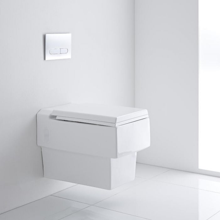Milano Westby - Square Wall Hung Toilet with Soft Close Seat