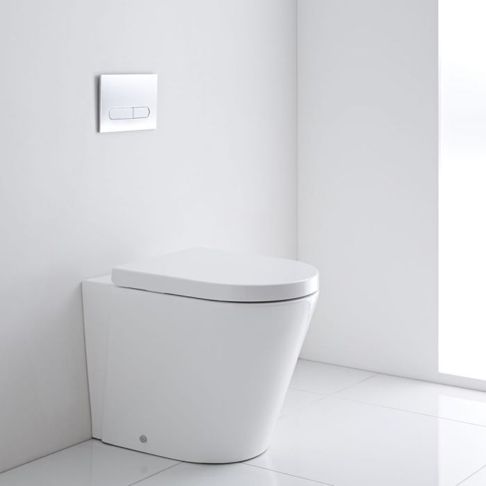 Milano Rivington - Oval Back to Wall Toilet with Soft Close Seat