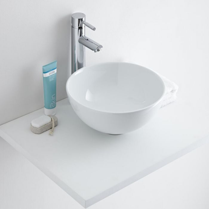 Milano Irwell - Round Ceramic Countertop Basin 320mm