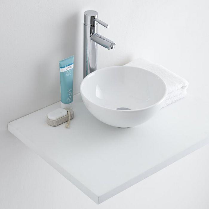 Milano Irwell - Round Ceramic Countertop Basin 280mm