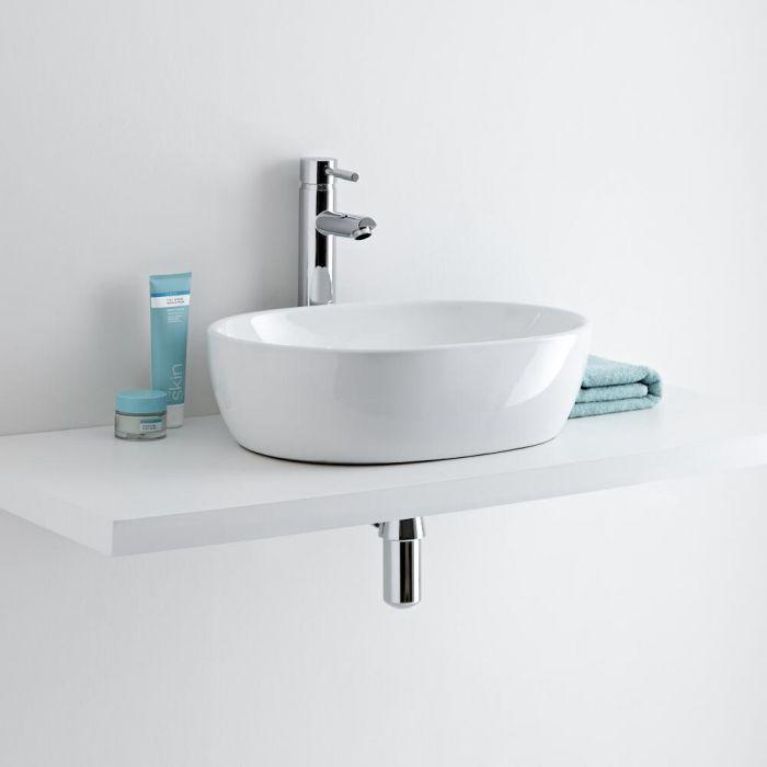 Milano Overton - Oval Ceramic Countertop Basin 480 x 350mm