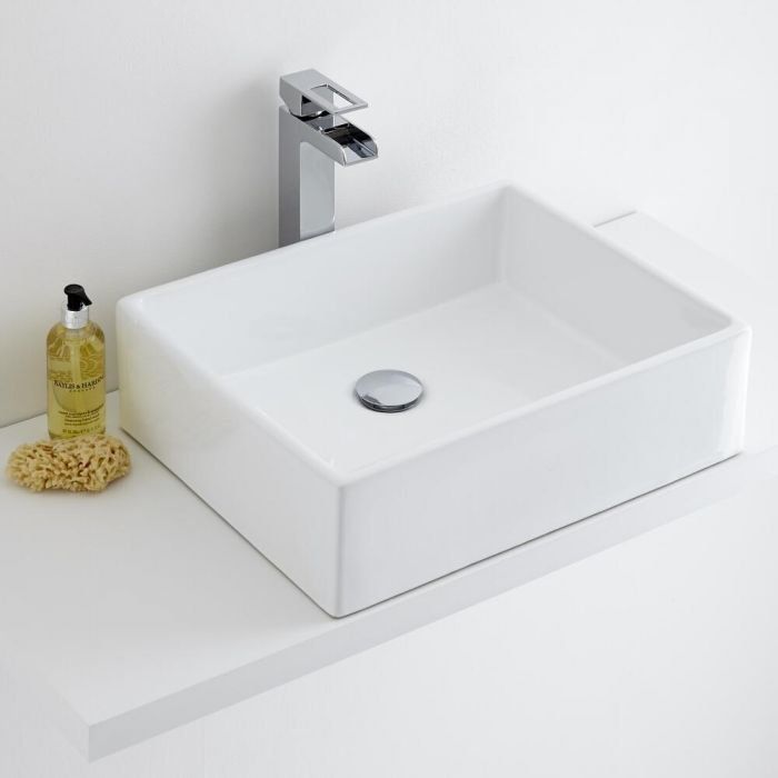 Milano Westby - Rectangular Ceramic Countertop Basin 490X390mm