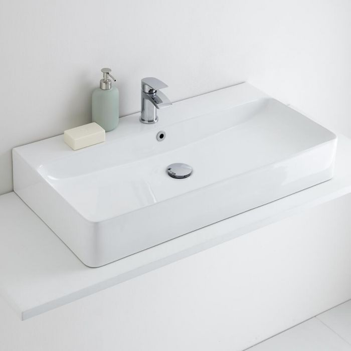 Milano Farington - Ceramic Countertop Basin 800 x 415mm