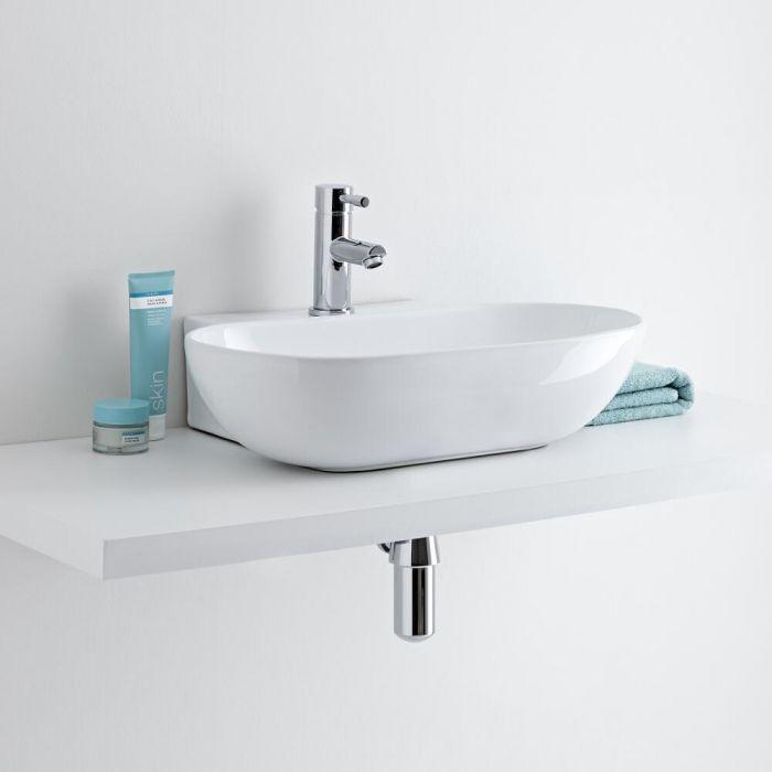 Milano Overton - Ceramic Countertop Basin 555 x 395mm
