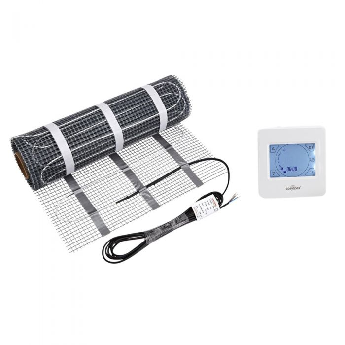 Cosytoes Electric Underfloor Heating Mat & Touchscreen Thermostat - Various Mat Sizes