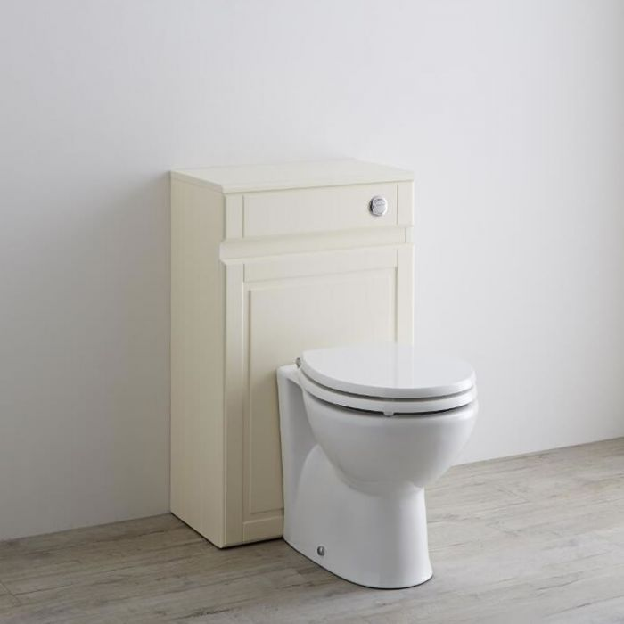 Milano Edgworth 500mm Traditional WC Unit - Ivory