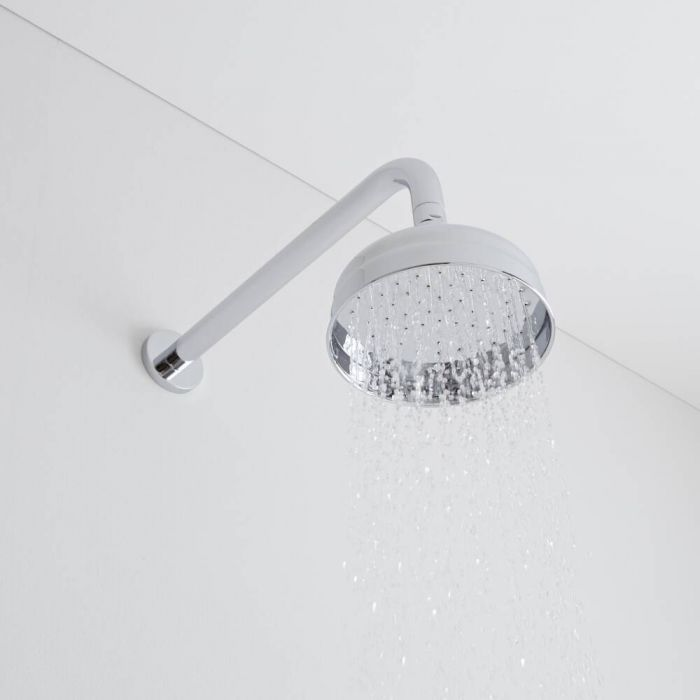 Milano Elizabeth - Traditional Wall Mounted Apron Shower Head - Chrome