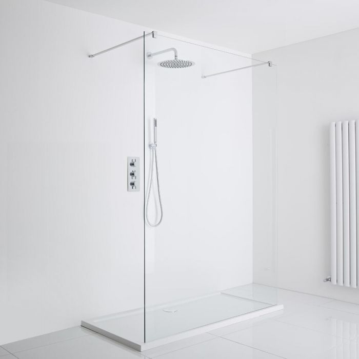 Milano Portland Floating Walk-In Shower Enclosure (1200 x 900mm) - Inc. Tray