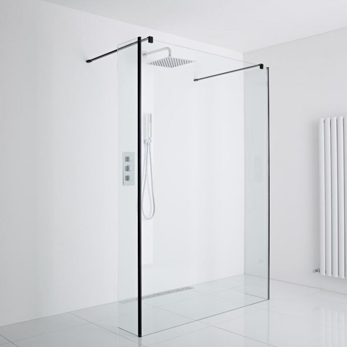Milano Glass Wet Shower Room Enclosure Including Drain