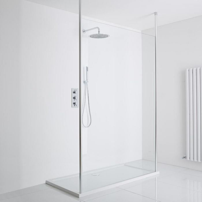 Milano Alto - Floating Wet-Room Shower Enclosure (1200 x 800) - Inc. Tray