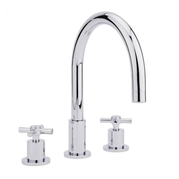 Milano Sutton 3TH Deck Mounted Bath Mixer Tap