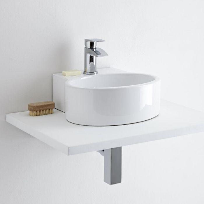 Milano Ballam Rounded Countertop Basin with Razor Mono Basin Mixer Tap