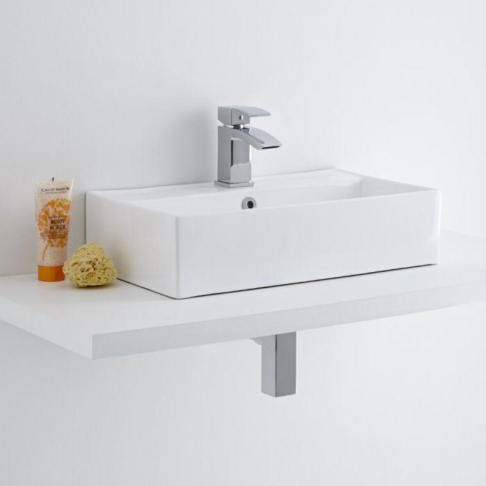 Milano Dalton 500mm Countertop Basin with Wick Basin Mixer Tap