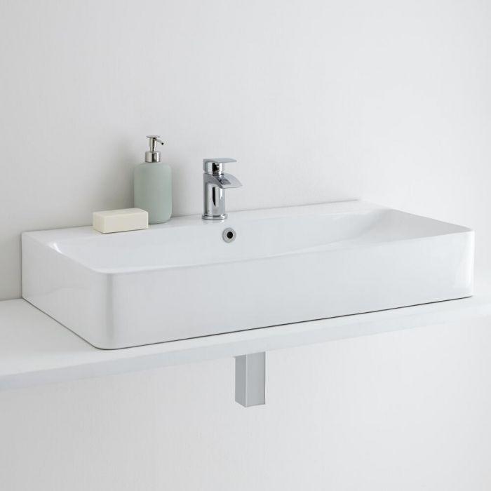 Milano Farington 800mm Countertop Basin with Basin Mixer Tap